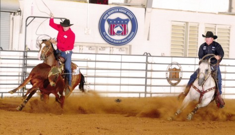 A Big CONGRATS to Coyote Rock and Im A Tuff Bueno for their AQHA Heading win at the Quarter Horse Congress!
